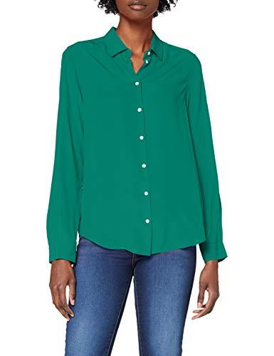 Seidensticker Damen Fashion 1/1 Bluse, Grün, 36