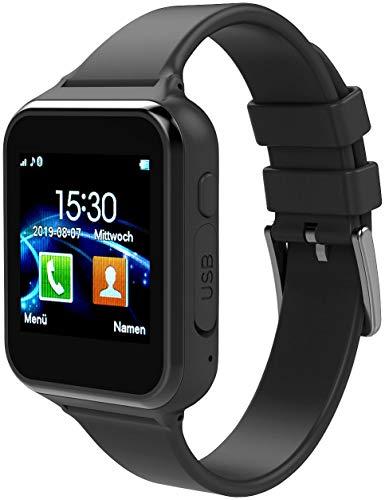 simvalley MOBILE Handyuhr mit Whatsapp: 2in1-Handy-Uhr & Smartwatch für Android, Touch-Display, Bluetooth, App (Smartwatch mit Whatsapp)