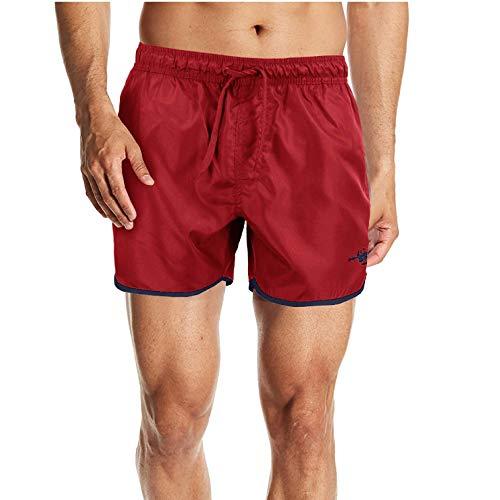 Girogama Harvey Miller Herren Badeshorts Boxer Shorts Meer Shorts 5398, Rot XXL