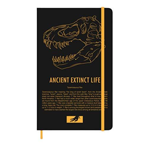 Journaling Paläontologie Memorial Notebook, A5 Dinosaurier Notebook, zum Schreiben und Zeichnen Schreiben und Zeichnen mit Gel-Kugelschreiber und Füllfederhalter Tagebuch für Frauen