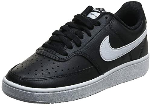 Nike Damen Court Vision Low Sneaker, Black White, 40 EU