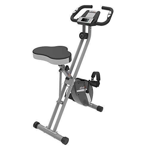 ATIVAFIT Ativaift Heimtrainer X- Bike mit großem Sitz, klappbares Fitnessbike, Fitnessfahrrad, Fahrradtrainer für Zuhause, Hometrainer mit 8-stufig einstellbarem Magnetwiderstand und bequemem Sitz