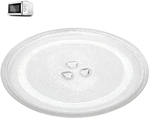 Mikrowellenteller Drehscheibe, Drehteller FüR Mikrowelle 24,5 cm, Mikrowelle Drehteller, Teller Glasplatte Glasdrehteller, Glasplatte Teller Rund Mikrowelle, Universal Mikrowelle Drehteller
