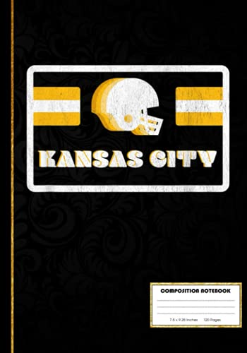 Retro 70s Old School Kansas City Football Composition Notebook: American Football Notebook Wide Ruled at 7 x 10 Inches   120 Pages   Back To School For Students and Teachers