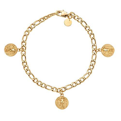 NOELANI Armband für Damen, Edelstahl, Münze