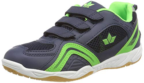 Lico Enjoy V Unisex Multisport Indoor Schuhe, Marine/ Lemon, 35 EU