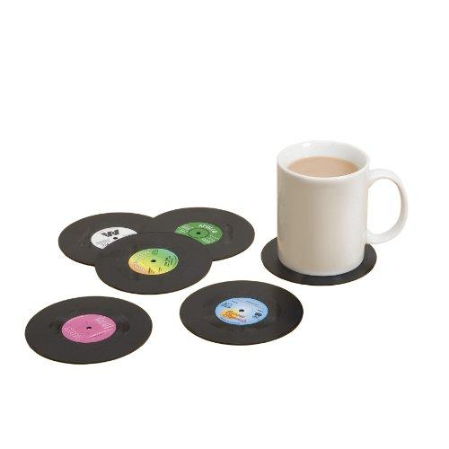 Spinning Hat SH01328 Schallplatten Untersetzer 6-er Set