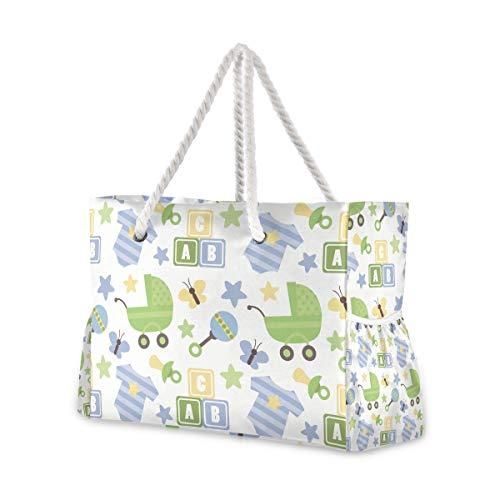 MONTOJ Süßer Baby-Strampelanzug, Einkaufstasche, Strandtasche