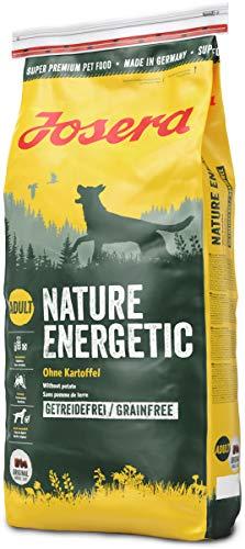 Josera Nature Energetic (1 x 15 kg)   getreidefreies Hundefutter ohne Kartoffeln   Super Premium Trockenfutter für ausgewachsene Hunde   1er Pack