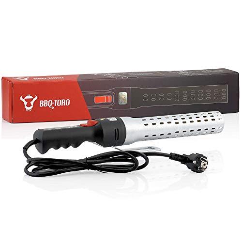 BBQ-Toro Elektrischer Grillanzünder IGGI   2000 W, 650 °C   Elektro Kohleanzünder für BBQ Holzkohle, Grill und Kamin