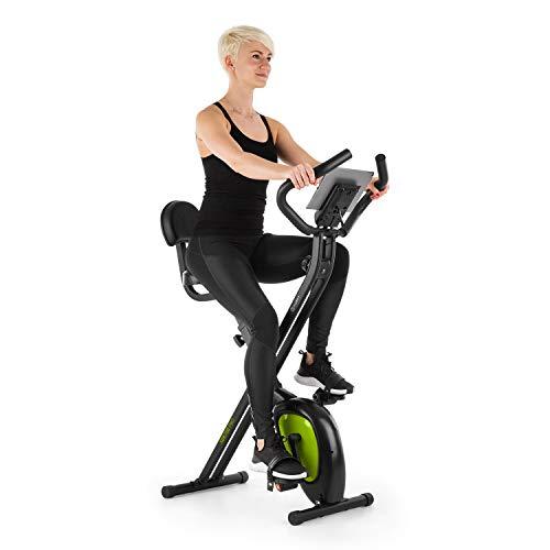 Capital Sports XBK700 Pro X-Bike Heimtrainer, Fahrrad, Hometrainer, Magnetwiderstand, Ergometer mit 8 Stufen, Pulsmesser, Trainingscomputer, Tablet-Halterung, 100 kg, schwarz/grün