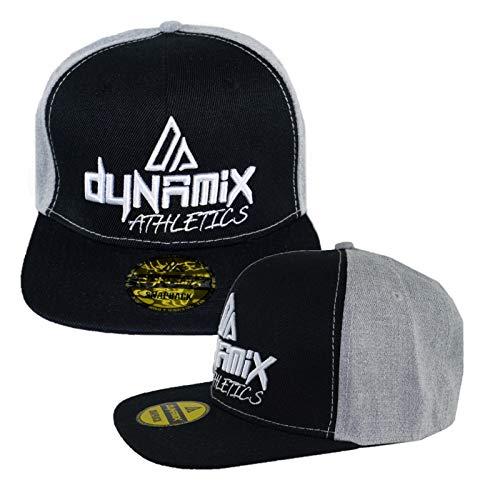 Dynamix Athletics Snapback Cap Unit Schwarz/Grau Freizeit Sport Sommer Kappe Mütze Baseball Cap