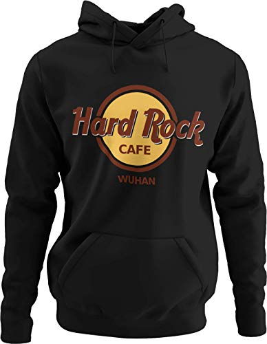 Parody Shirts Hard Rock Wuhan - Fun Hoodie (XL, schwarz)