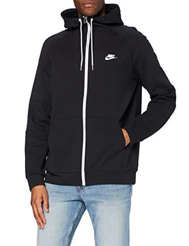 Nike Herren Sportswear Modern Hoodie Mit Durchgehendem Reißverschluss, Black/Ice Silver/White/White, M