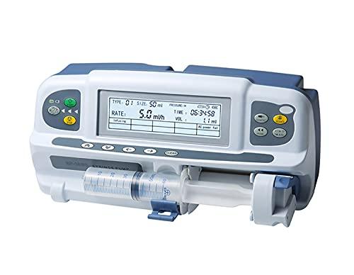 LMEILI Einzelspritzenpumpe 600 ml/h Spritzenpumpe für medizinische Injektionsinstrumente für Veterinär- und Laborzwecke