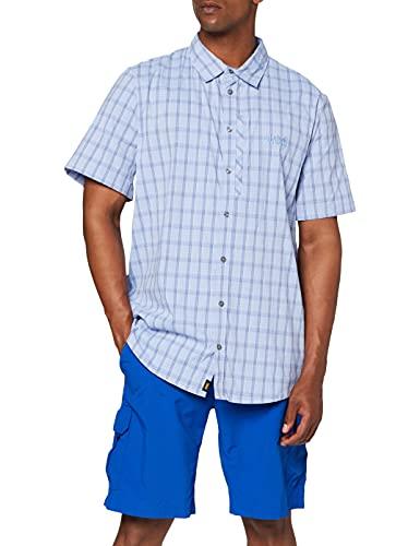 RAYS STRETCH VENT SHIRT MEN, shirt blue checks, XL