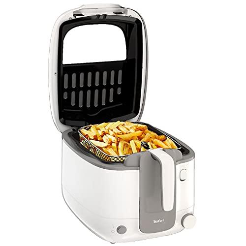 Tefal Fritteuse Super Uno FR3100, Kapazität 2,2 Liter 1,5Kg   Geruchsfilter, regelbare Temperatur, Behälter mit Antihaft-Beschichtung, Teile Spülmaschinenfest, knusprige Pommes, leichte Reinigung