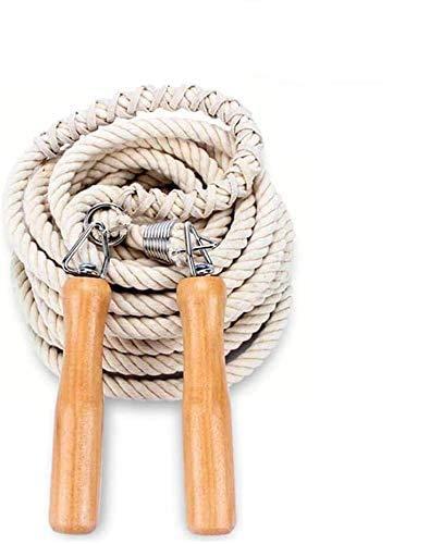 DFVEY Springseil Weitsprungseil mit Holzgriff für Kinder und Erwachsene, Bestes Springseil der Teamgruppe für Schulsport und Outdoor-Aktivitäten (5M)