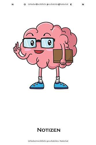 Streber Gehirn mit Buch und Brille Notizbuch: Punkteraster Notizbuch für alle Nerds, Chippies und Computerfreaks
