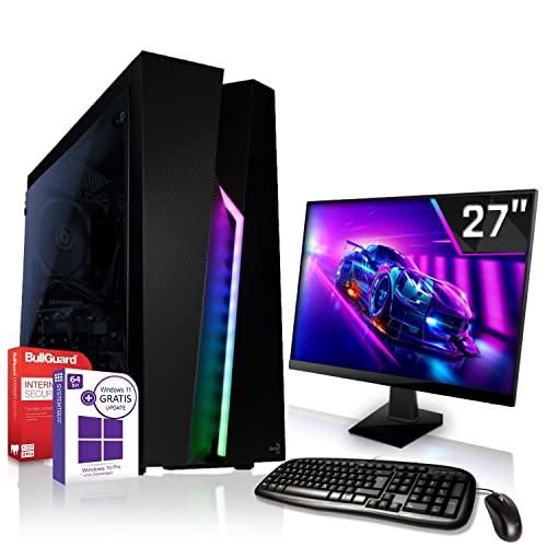 Komplett PC-Paket Set • AMD Athlon 3000G 4 Threads 3.5GHz • 8GB DDR4 • 512GB M.2 SSD und 1TB • DirectX12 • WLAN • USB 3.1 • Win10 • 27 Zoll LED TFT Monitor • Computer