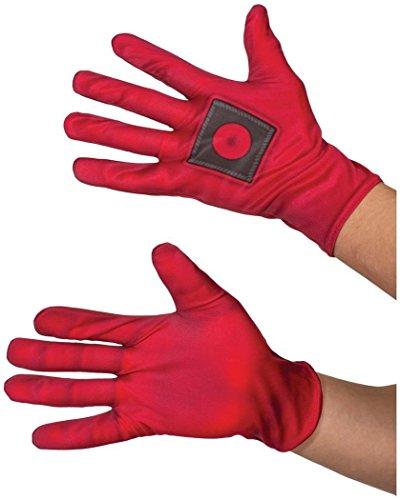 Rubie's Offizielle Deadpool-Handschuhe, trendiges Kleid aus dem Marvel-Universum, für Superhelden-Kostüm-Zubehör
