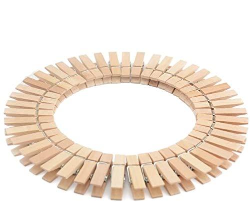 Voarge 50 Wäscheklammern aus Buchen-Holz mit extra-starker Spiralfeder Holzklammern zum Wäsche aufhängen für Jede Wäscheleine geeignet, stabil & witterungsbeständig