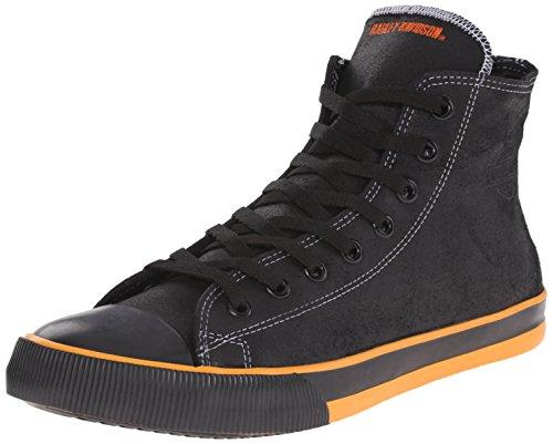 HARLEY-DAVIDSON FOOTWEAR Nathan Vulcanized Sneaker für Herren, schwarz/orange, 44.5 EU