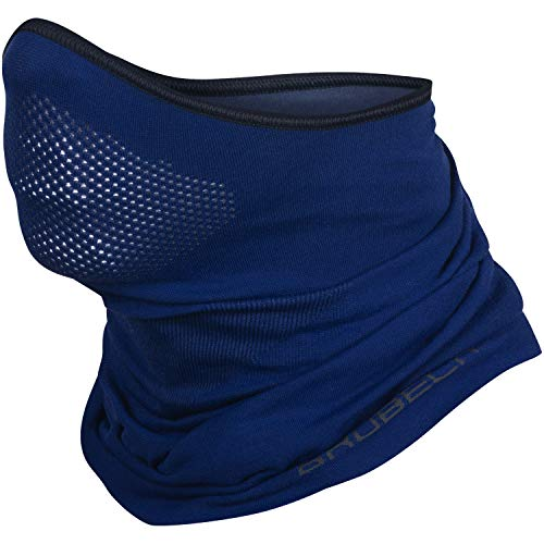 BRUBECK X-Pro Halbe Sturmhaube   Herren   Damen   Klimaregulierend   Gesichtsmaske   Sturmmaske   Funktionskleidung   Atmungsaktiv   Anti-allergisch   Antibakteriell (Dunkelblau, L - XL)