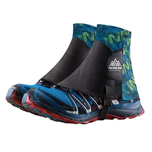 TRIWONDER Reflektierende Gamaschen, Trail Low Gaiters, Running Gamaschen mit UV-Schutz für Damen und Herren (Grün)