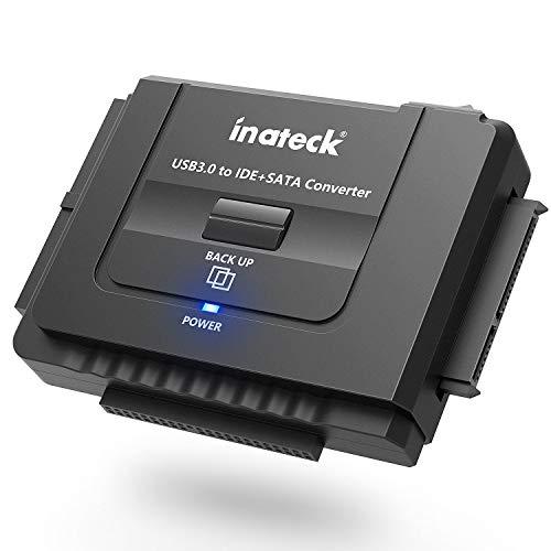 Inateck IDE/SATA zu USB 3.0 Combo Docking station Universalkonverter mit Netzschalter -2,5'' und 3,5''SATA HDD & IDE HDD-Laufwerke Konverter/ Adapter, auch unterstützt CD/DVD Laufwerke; Kompatible Win
