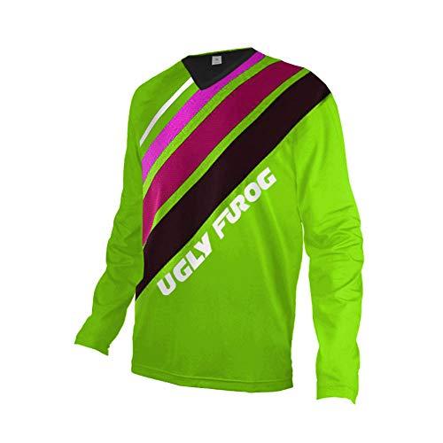 UGLY FROG New Bike Wear Herren Downhill/MTB Jersey Mountain Bike Shirt Fahrradtrikot Langarm Freeride BMX Frühling Top