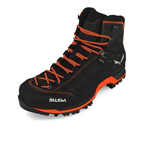Salewa MS Mountain Trainer Mid Gore-TEX Herren Trekking- & Wanderstiefel, Grau (Asphalt/Fluo Orange), 43 EU