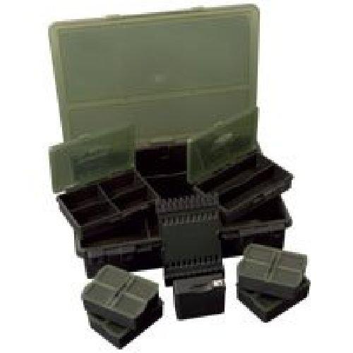 Fox Royale Loaded Box Medium - Tacklebox für Angelzubehör zum Karpfenangeln, Angelbox für Karpfentackle, Box für Kleinteile