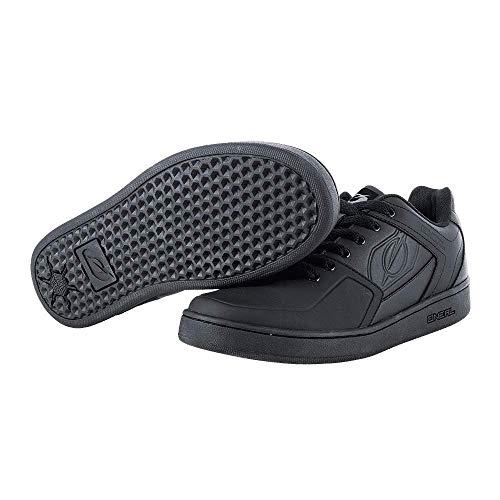 O'NEAL   Mountainbike-Schuhe   MTB Downhill Freeride   Vegan   Gleichgewicht zwischen Grip und Fußrepositionierung, Waben-Sohlenstruktur   Pinned Flat Pedal Shoe   Erwachsene   Schwarz   Größe 46