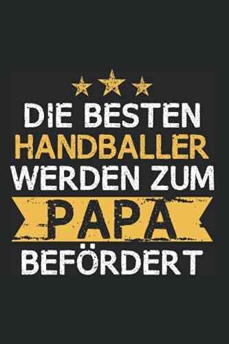 Handball Papa Notizbuch: 120 Seiten Kariert - Handballer Sport Vater Spruch