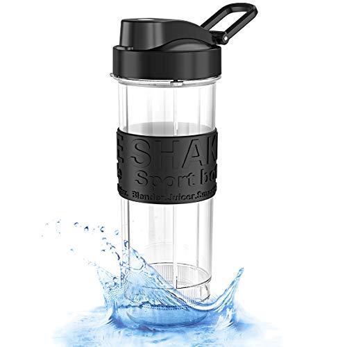 ROVLAK Smoothie Flasche 570 ml Wasserflasche Portable Sportflasche Auslaufsicher Tritan Trinkflasche BPA Frei Outdoor Travel Flasche für Erwachsene & Kinder