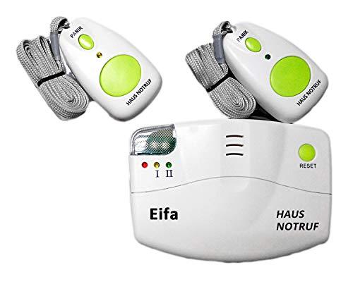 Mobiler Alarm Notruf Knopf Funk Senioren Krankenpflege Notrufknopf Hausnotruf Pflege Überfall 2 Sender Pflegedienst Altenpflege Haus Pflegenotruf Lautstärkeregler