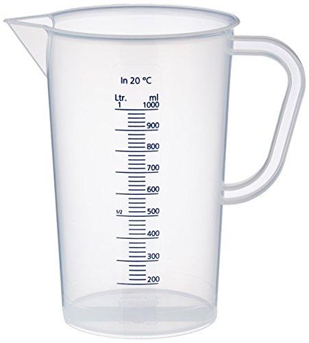 neoLab E-1623 Messbecher aus PP, 1000 mL, Transparent (Milchig)