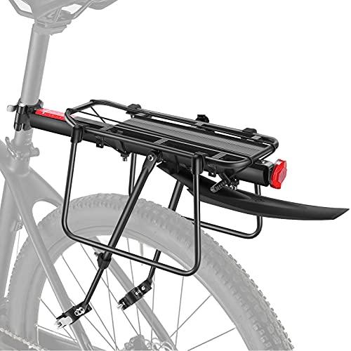toptrek Gepäckträger Mountainbike Alu mit Schutzbleche und Reflektor Fahrrad Gepäckträger Schnelle Montage und Schnellspanner FahrradGepäckträger Frei Einstellbare Hinten für 24-29 Zoll MTB/Rennrad