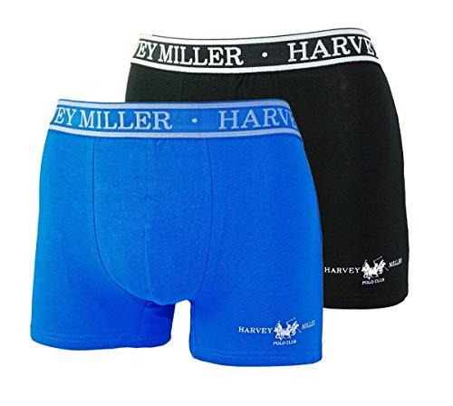 Harvey Miller 2er Pack Boxershorts HRM4213 Royal Schwarz W18-HW1 Größe M