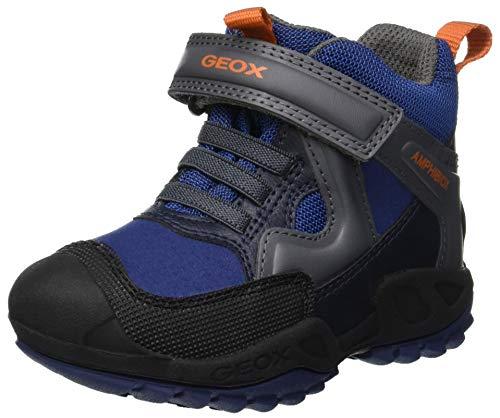 Geox J New Savage Boy B A Hohe Sneaker, Blau (Blue/Dk Grey C0002), 36 EU