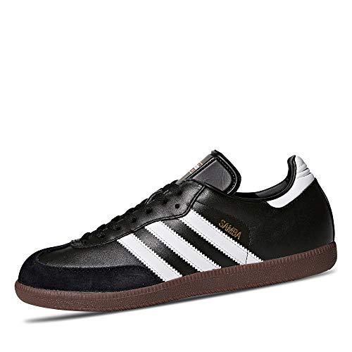 adidas Herren Fußballschuh Samba Low-Top Sneakers, Schwarz (Black/running White Footwear), 48 2/3 EU