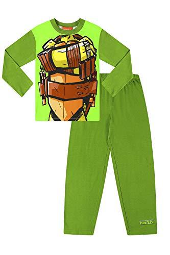 Ninja Turtles Teenage Mutant Jungen Pyjama-Set aus Baumwolle Gr. 7-8 Jahre, grün