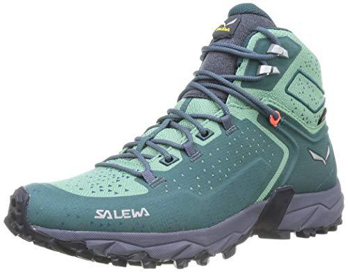 Salewa WS Alpenrose 2 Mid Gore-TEX Damen Trekking- & Wanderstiefel, Blau (Atlantic Deep/Feld Green), 40.5 EU