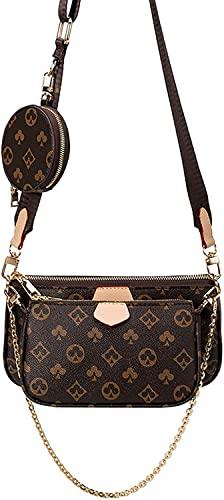 LucaSng Mahjong Bag Umhängetasche Schultertasche 3 in 1 Luxus-Handtasche PU Leder Tragetaschen Fashion für Frauen