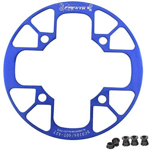 UPANBIKE Fahrrad Kettenblatt Schutz für Mountainbikes 104 BCD Aluminiumlegierung Kettenblattschutz für (40~42T,Blau)