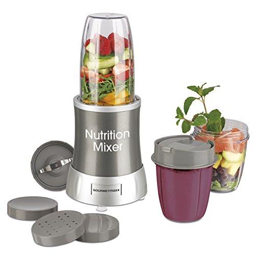 GOURMETmaxx 09817 Nutrition Mixer für Smoothies, grau