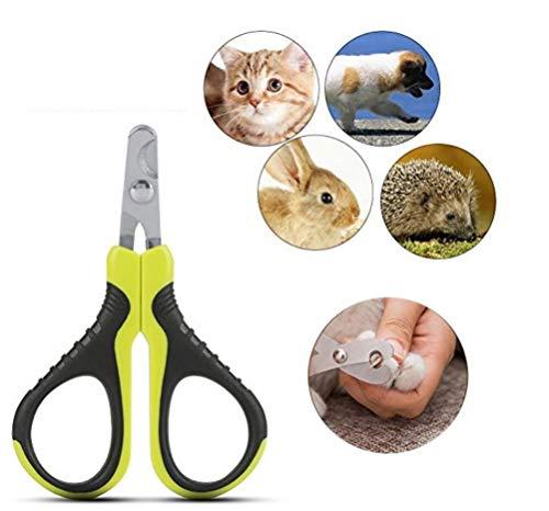Pssopp Krallenschere Katzen Hund Krallenzange Haustier Nagelknipser Tragbare Professionelle Klaue Schere Trimmer Grinder Cutter für Nager Katzen Hunde Welpen, Katzen, Hasen und Meerschweinchen
