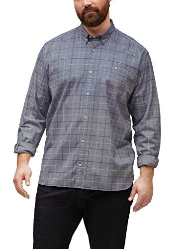 s.Oliver Big Size Herren 131.10.012.11.120.2062523 Hemd mit Button-Down-Kragen, Grey Check, 3XL