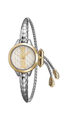 Just Cavalli Damen Analog Quarz Uhr mit Edelstahl Armband JC1L034M0065